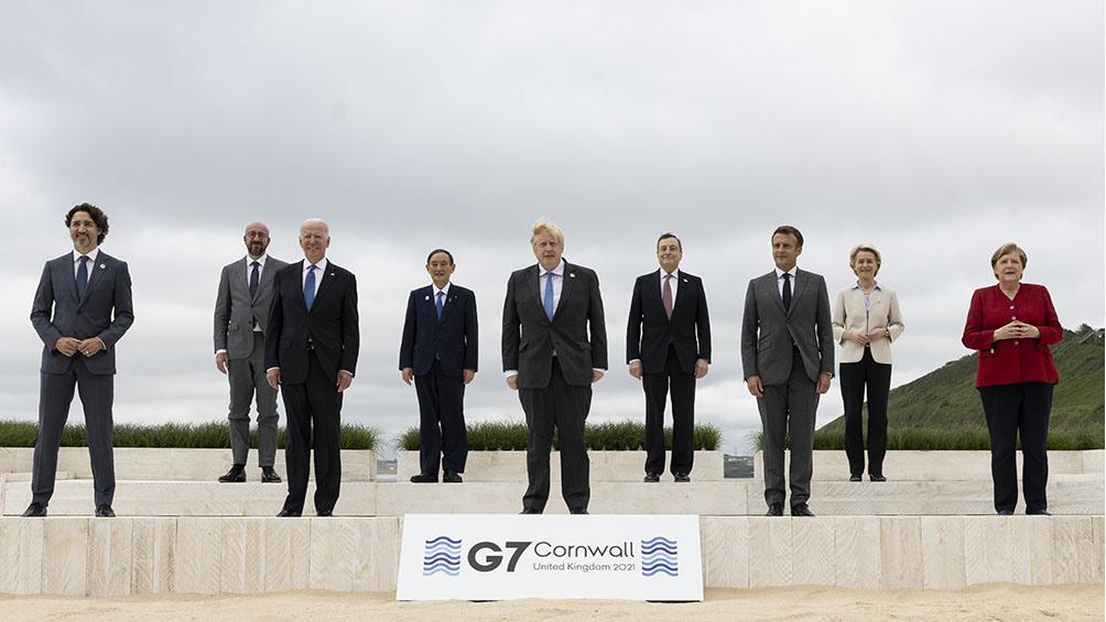"""El G7 acordó la donación de 1.000 millones de vacunas y exigió una investigación """"transparente"""" en China sobre el origen del COVID-19"""