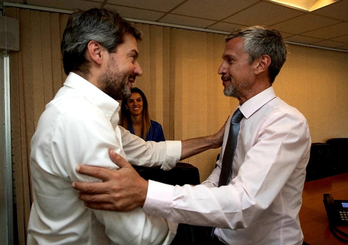 Mario Peña se reunió con Matías Lammens